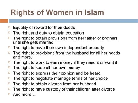 islamic bill of rights for women in the bedroom women rights in islam essay