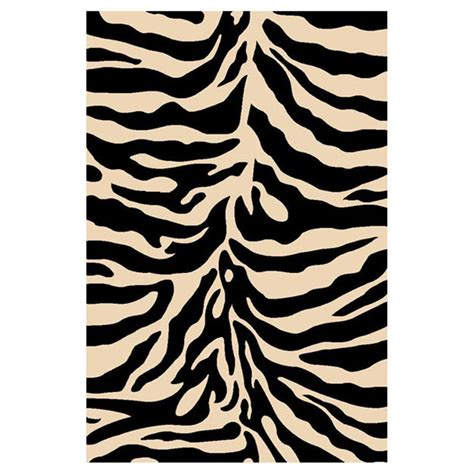 Area Rugs Animal Print Donnieann 174 5x8 Zebra Print Area Rug Black 215427 Rugs At Sportsman S Guide