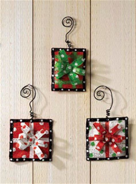 gift box ornaments happy holidayware