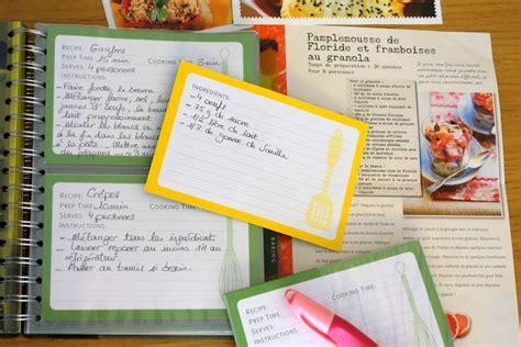 cahier recette cuisine faire cahier de recettes