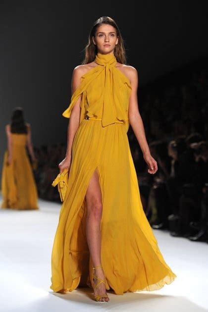 Dress Aa elie saab 2012 flowy chiffon in yellow styles i