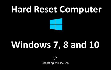 factory reset laptop windows 7 hard reset computer windows 7 8 and 10 device boom