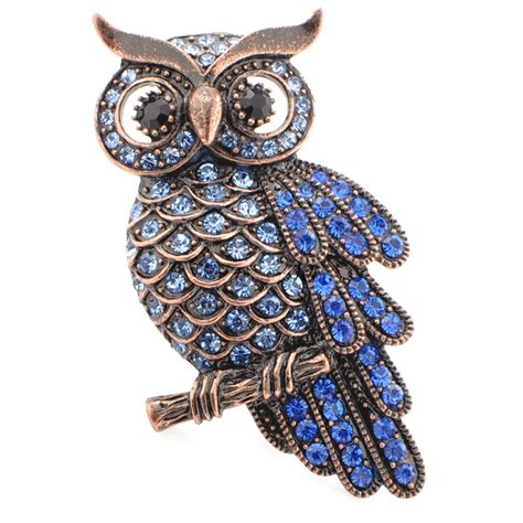 Blue Owl Swarovski 215 best owl jewelry images on owls brooches and brooch pin