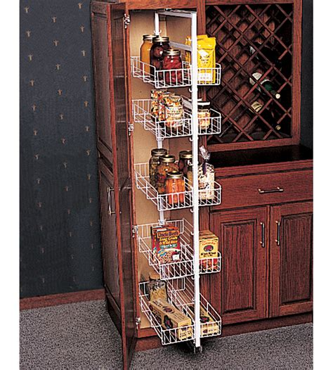 Kitchen Pantry Pull Out Baskets Pantry Roll Out Storage System In Pull Out Pantry Organizers