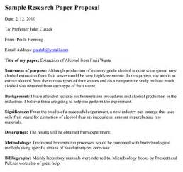 How To Write Proposal Paper Research Paper Proposal Example