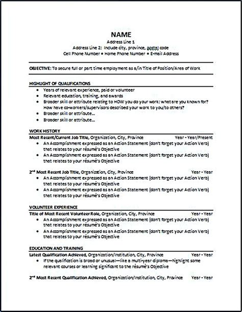 Chronological Resume Sle For High School Student Chronological Resume Format Chronological Resume Is One Of The Most Popular Formats Use