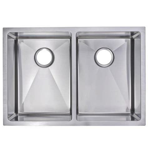 Kitchen Sink Finishes Water Creation Undermount Small Radius Stainless Steel 29 In 0 Bowl Kitchen Sink In