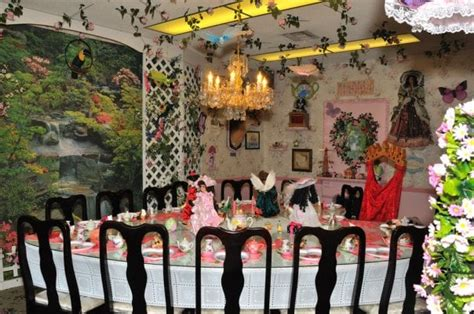 s dollhouse tea room the dining room at a lovey shaped table yelp