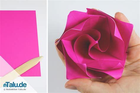 Blume Falten Kindergarten by Origami Aus Papier Falten Diy Anleitung Talu De