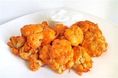 hotforfood buffalo cauliflower spicy buffalo cauliflower bites recipe dishmaps