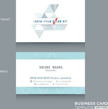 company business cards templates template company business cards set vector free vector in