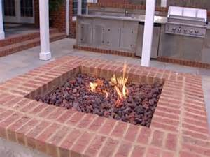 Brick Firepit Pit Diy Ideas Diy