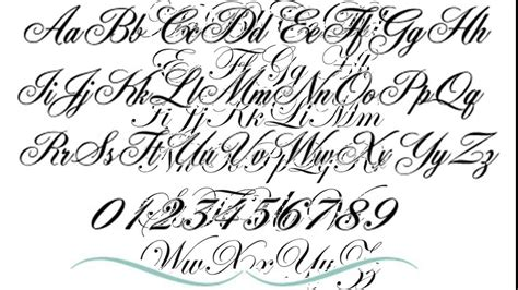 script tattoo fonts for men font tattooed images