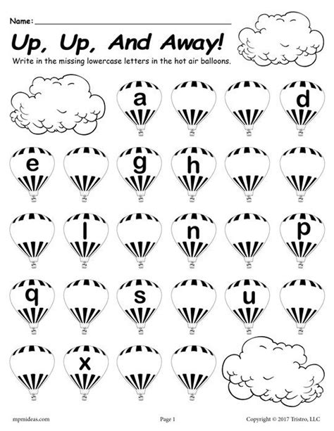 free printable lowercase alphabet worksheet fill in the