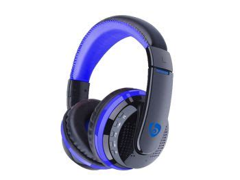 Ovleng Headset Mx666 Blue Wireless ovleng mx666 wireless bluetooth v4 0 edr stereo rechargeable headphones headset with built in