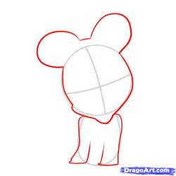 How To Draw A How To Draw Baby Minnie Mouse Step By Step Disney