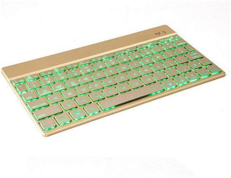 Keyboard Laptop Forsa factory direct sale keyboard bluetooth 3 0 with 7 colors led back light ultra slim wireless