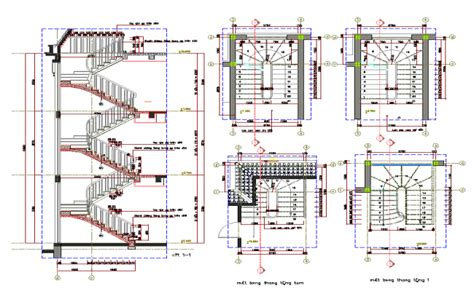 stair section detail dwg steel stairs details dwg