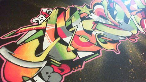 wildstyle graff sur toile couleurs  degrades
