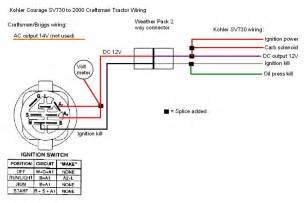 kohler engine electrical diagram craftsman 917 270930 wiring diagram i colored a few wires to
