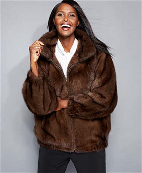 The Fur Vault Mink Fur Bomber Jacket   The Fur Vault   Women   Macy's