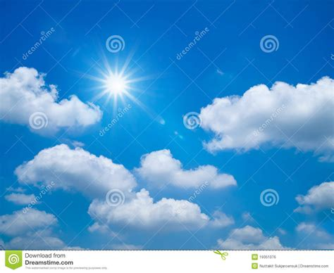 bright blue sky landscape royalty free stock image image