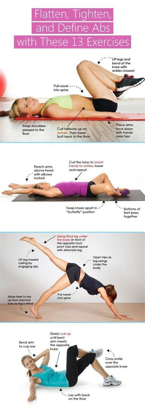flatten tighten define abs with these 13 exercises fitness health ab workouts