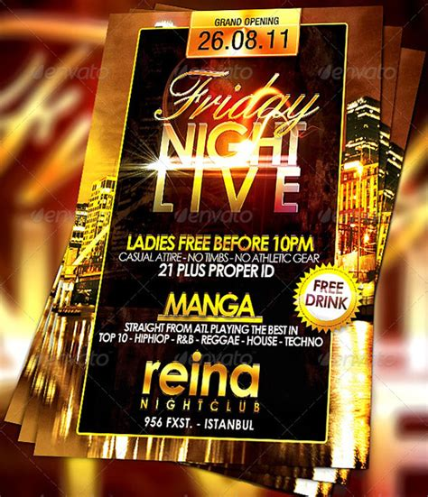 160 Free And Premium Psd Flyer Design Templates Print Ready Icanbecreative Free Nightclub Flyer Templates