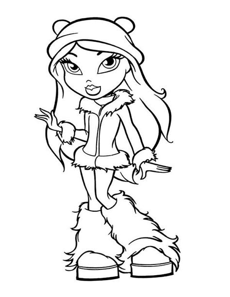 girl winter coloring page fancy teen girl in winter season outfit coloring page netart