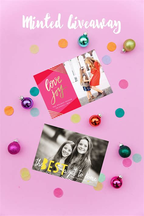 Minted Giveaway - minted holiday giveaway tell love and party