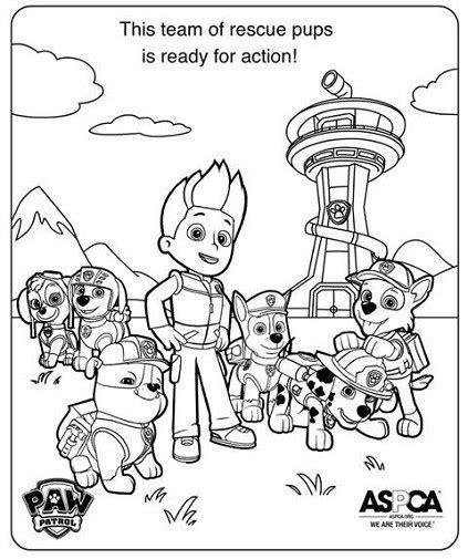 paw patrol lookout coloring page dibujos de paw patrol para colorear todo peques