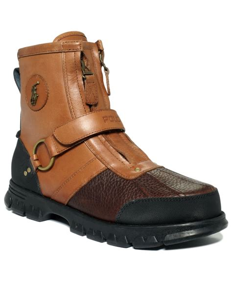 polo ralph conquest iii high duck boots in brown