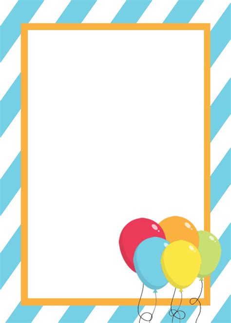 Modern Birthday Card Template by Free Printable Birthday Invitation Templates In 2018