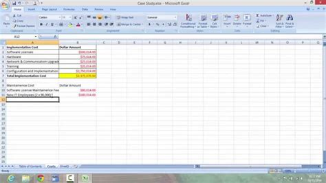mis 3300 excel case study tutorial 1 youtube