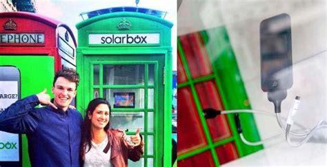 cabine telefoniche londinesi solarbox a londra le cabine telefoniche ricaricano