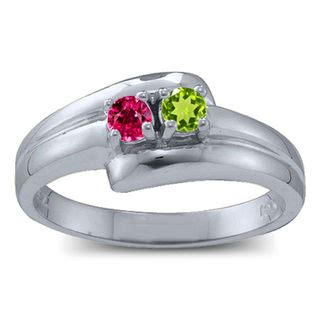s birthstone bypass ring 2 7 stones
