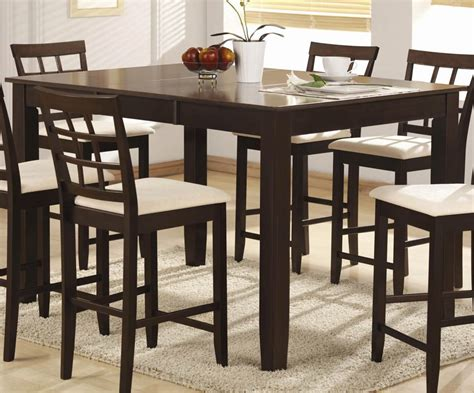 Counter height dining room table