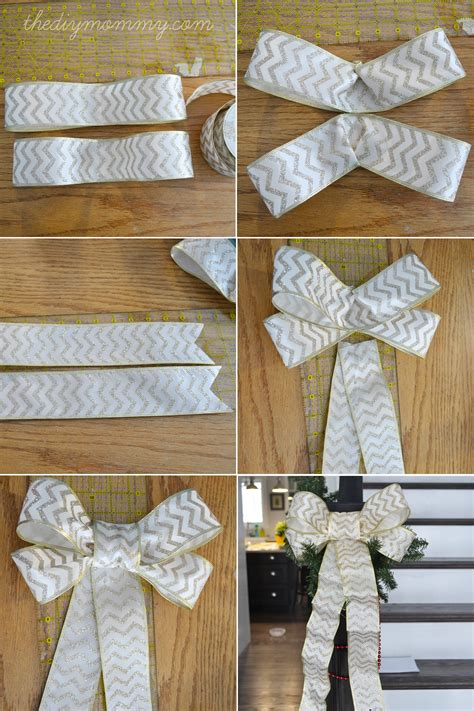 how to make bows for top of christmas tree make diy wired ribbon bows