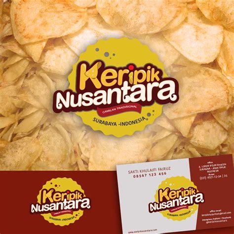 desain logo makanan keripik