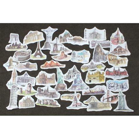 Les Plus Beaux Stickers by Lot De 44 Stickers Les Plus Beaux Monuments Du Monde
