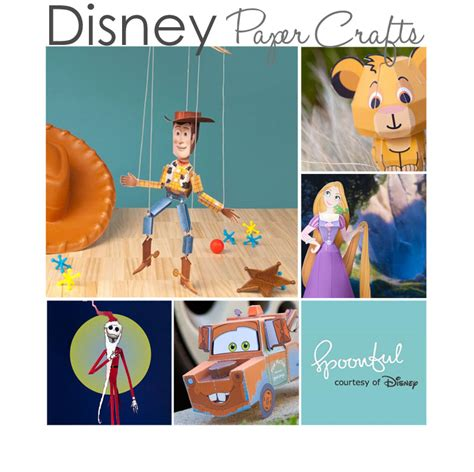 Disney Papercrafts - 10 disney paper crafts free printables 187
