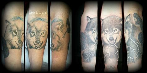 lucky bamboo tattoo wolf overhaul by haylo tattoonow