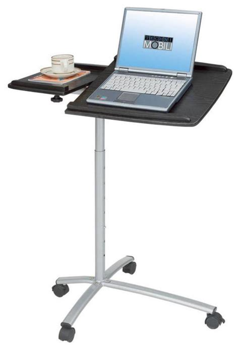 Techni Mobili Rolling Laptop Stand Espresso Standing Rolling Desk