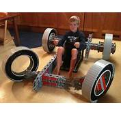 Fully Functional Go Kart Built Entirely From LEGO Bricks