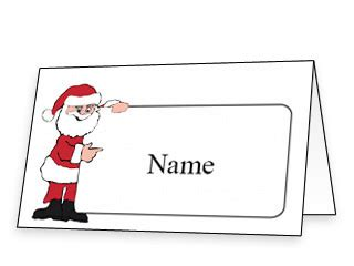 santa place cards templates 9 best images of printable name cards free