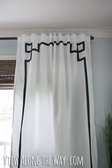 greek drapery diy no sew greek key curtain panels