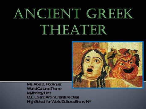 themes in ancient greek literature ancient greek theatre combo