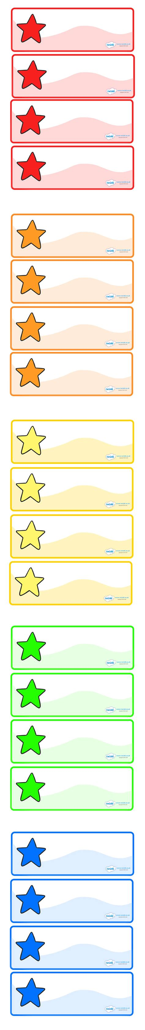printable peg labels twinkl resources gt gt editable multicoloured stars drawer