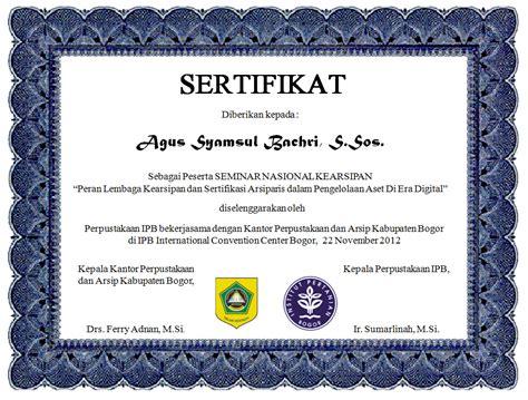 template sertifikat word cara membuat sertifikat s personal