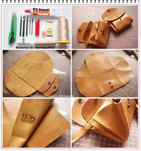 como hacer una cartera de cuero para hombre enrhedando manualidades
